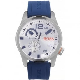 Hugo Boss Orange 1513146 Paris Men's Blue Silicone Chronograph Watch