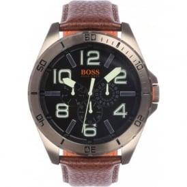 Hugo Boss Orange 1513166 Brown Leather Chronograph Men's Watch