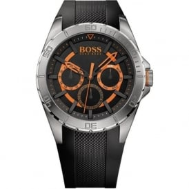 Hugo Boss Orange 1513203 Men's Black Rubber Chronograph Watch