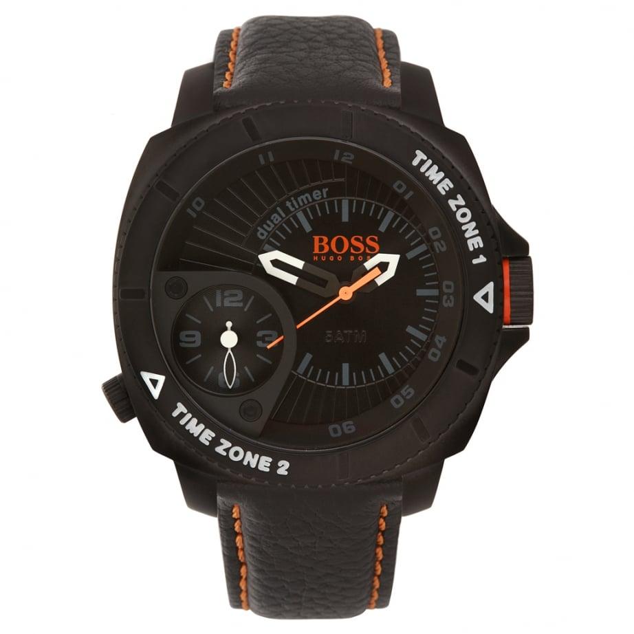 1513221 hugo boss orange black leather mens watch. Black Bedroom Furniture Sets. Home Design Ideas