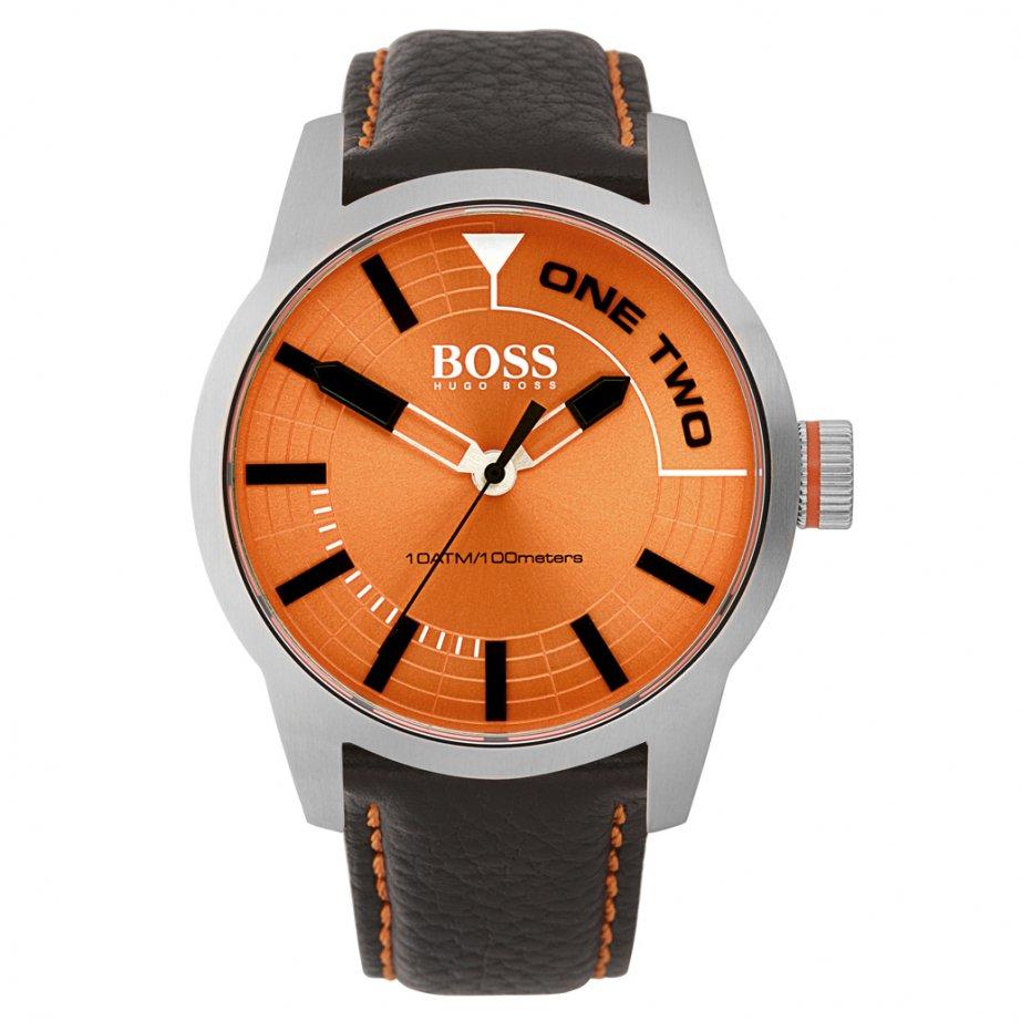hugo boss orange 1513222 tokyo men 39 s orange dial brown. Black Bedroom Furniture Sets. Home Design Ideas