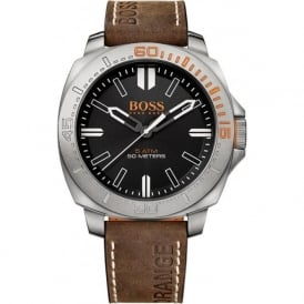 1513294 Sao Paulo Mens Brown Leather Watch
