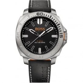 1513295 Sao Paulo Men's Black Leather Watch