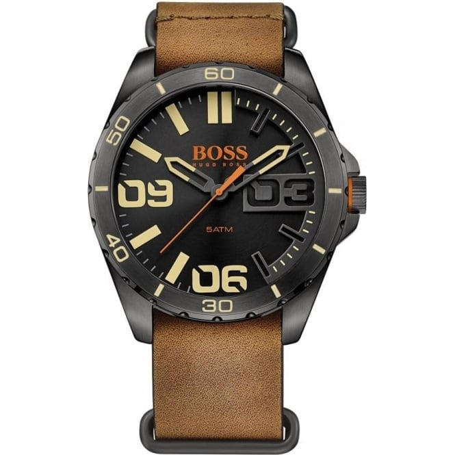 Hugo Boss Orange 1513316 Berlin Black & Brown Leather Men's Watch