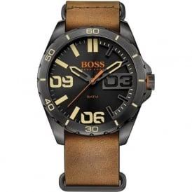 Hugo Boss Orange 1513316 Black & Brown Leather Men's Watch