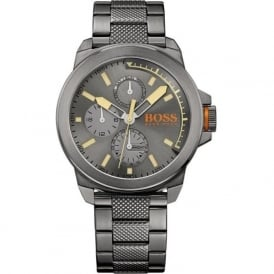 Hugo Boss Orange 1513319 Gun IP Plated Steel Men's Chronograph Watch
