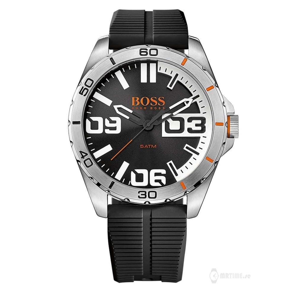 hugo boss orange 1513285 berlin silver and black rubber men s hugo boss orange 1513285 berlin silver black rubber men s watch