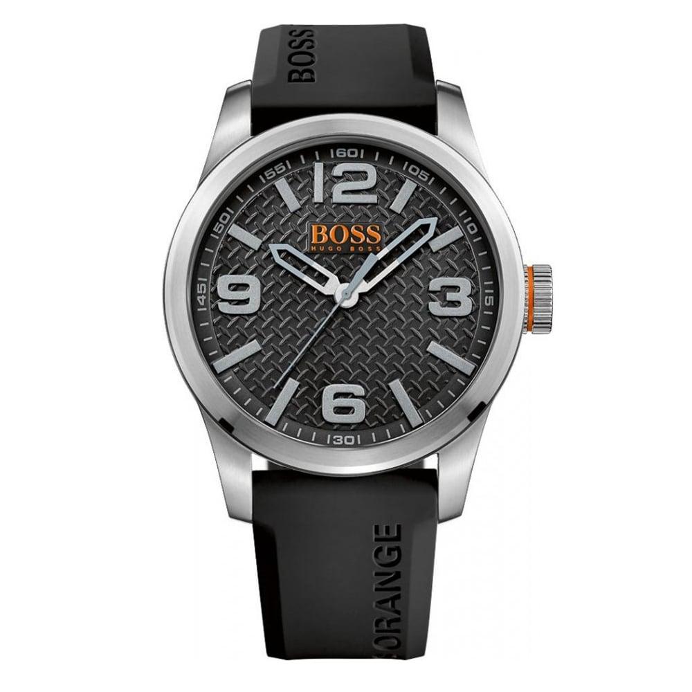 hugo boss orange 1513350 paris black rubber men s watch available hugo boss orange 1513350 paris silver black rubber men s watch