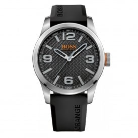 1513350 Paris Silver & Black Rubber Men's Watch