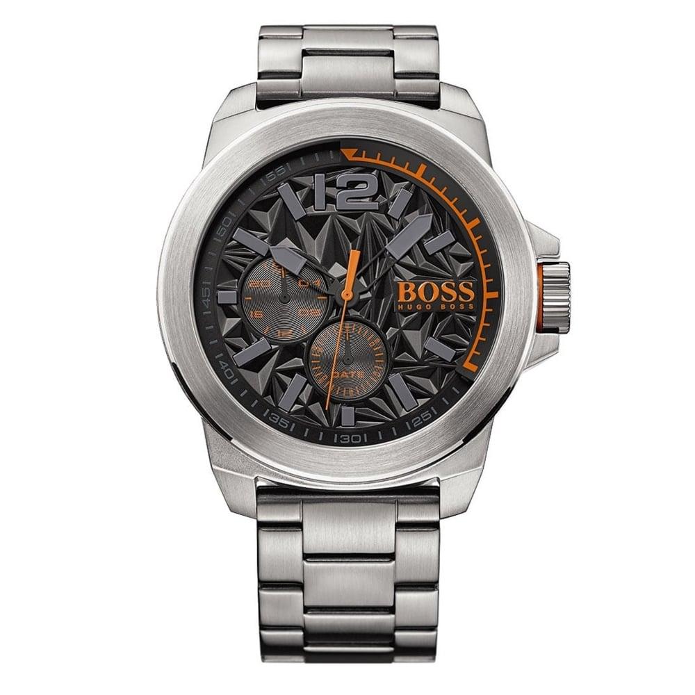 hugo boss orange 1513406 new york black and silver stainless steel hugo boss orange 1513406 new york black silver stainless steel men s watch