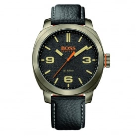 Hugo Boss Orange 1513409 Cape Town Bronze Gun Metal & Black Leather Men's Watch