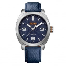Hugo Boss Orange 1513410 Cape Town Silver & Blue Leather Men's Watch