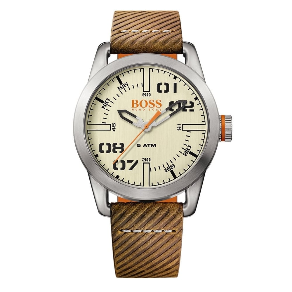 hugo boss orange 1513418 oslo brown and black leather watch hugo boss orange 1513418 oslo brown black leather men s watch