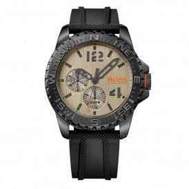 1513422 Reykjavik Gold & Black Rubber Multi-functional Men's Watch