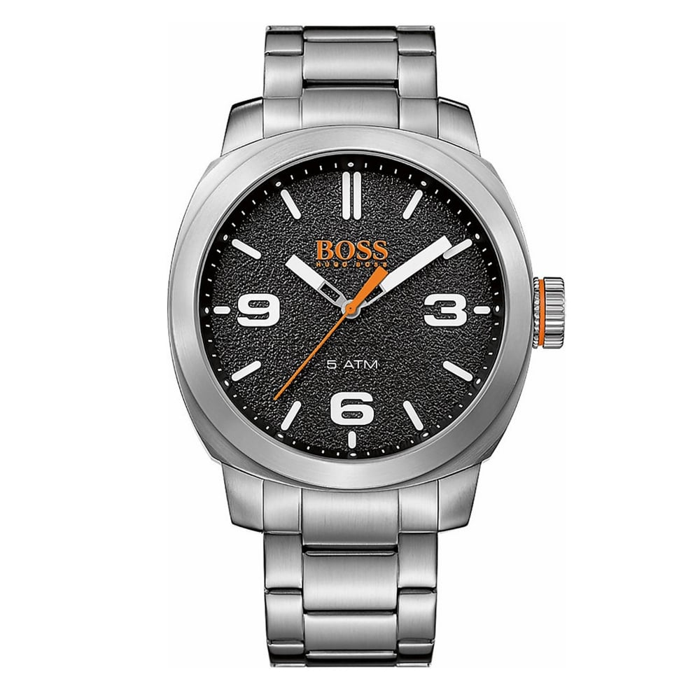 hugo boss orange 1513454 cape town black and silver stainless hugo boss orange 1513454 cape town black silver stainless steel men s watch