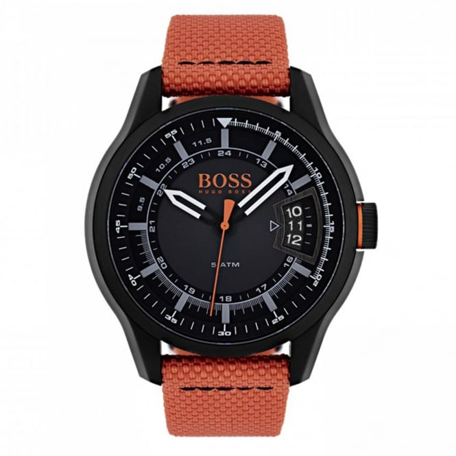 Hugo Boss Orange 1550001 Hong Kong Orange Canvas Men's Watch