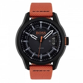 1550001 Hong Kong Orange Canvas Men's Watch