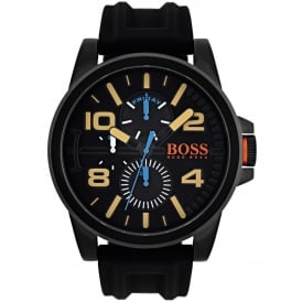 1550011 Detroit Black Rubber Multi-functional Men's Watch