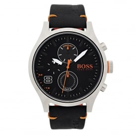 1550020 Amsterdam Orange & Black Leather Men's Watch