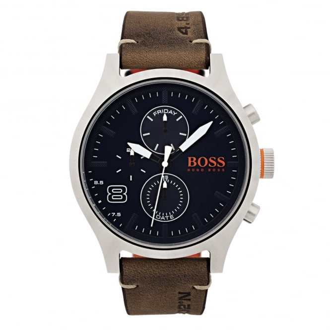 Hugo Boss 1550021 Amsterdam Blue & Brown Leather Men's Watch