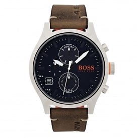 1550021 Amsterdam Blue & Brown Leather Men's Watch