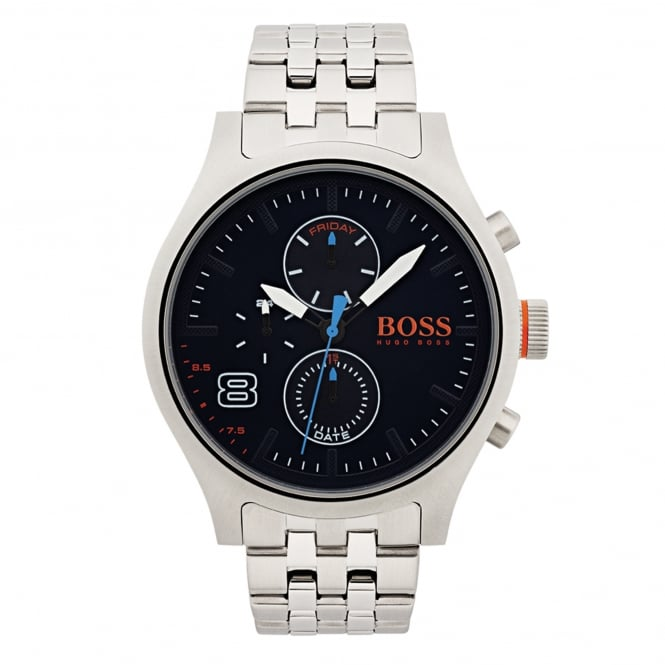 Hugo Boss Orange 1550023 Amsterdam Blue & Silver Stainless Steel Men's Watch