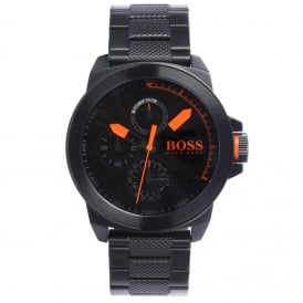 Hugo Boss Orange 1513157 New York Black ION-Plated Steel Men's Watch