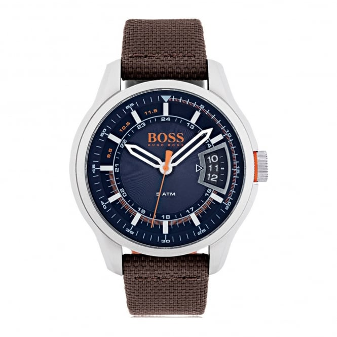 Hugo Boss Orange HUGO BOSS ORANGE 1550002 MEN'S HONG KONG BROWN & NAVY WATCH