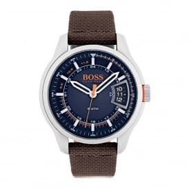 HUGO BOSS ORANGE 1550002 MEN'S HONG KONG BROWN & NAVY WATCH