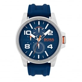 HUGO BOSS ORANGE 1550008 MEN'S DETROIT BLUE & SILVER WATCH