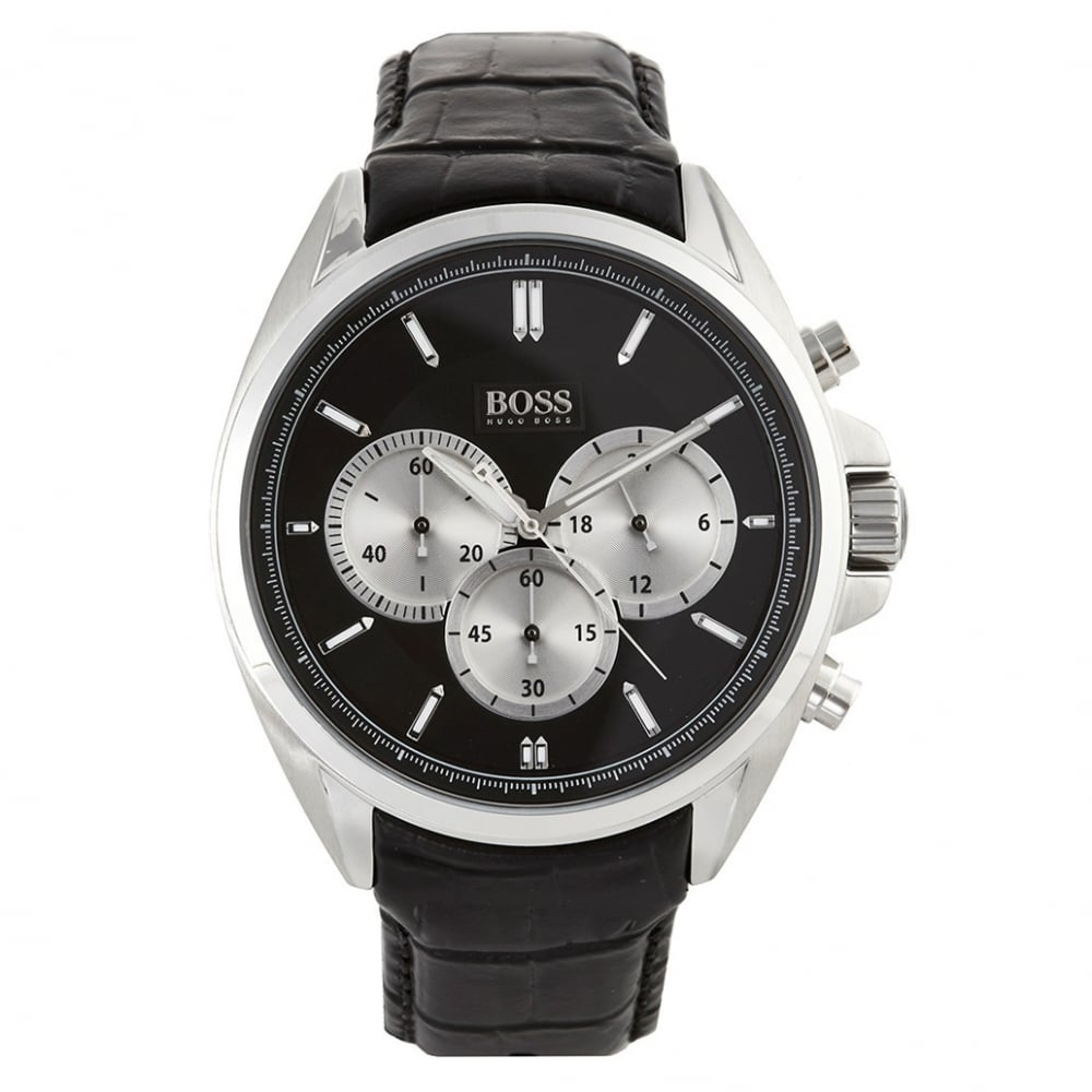 6f3616c74c00e Buy Hugo Boss Black 1512879 Black Leather Men s Watch At Tic Watches
