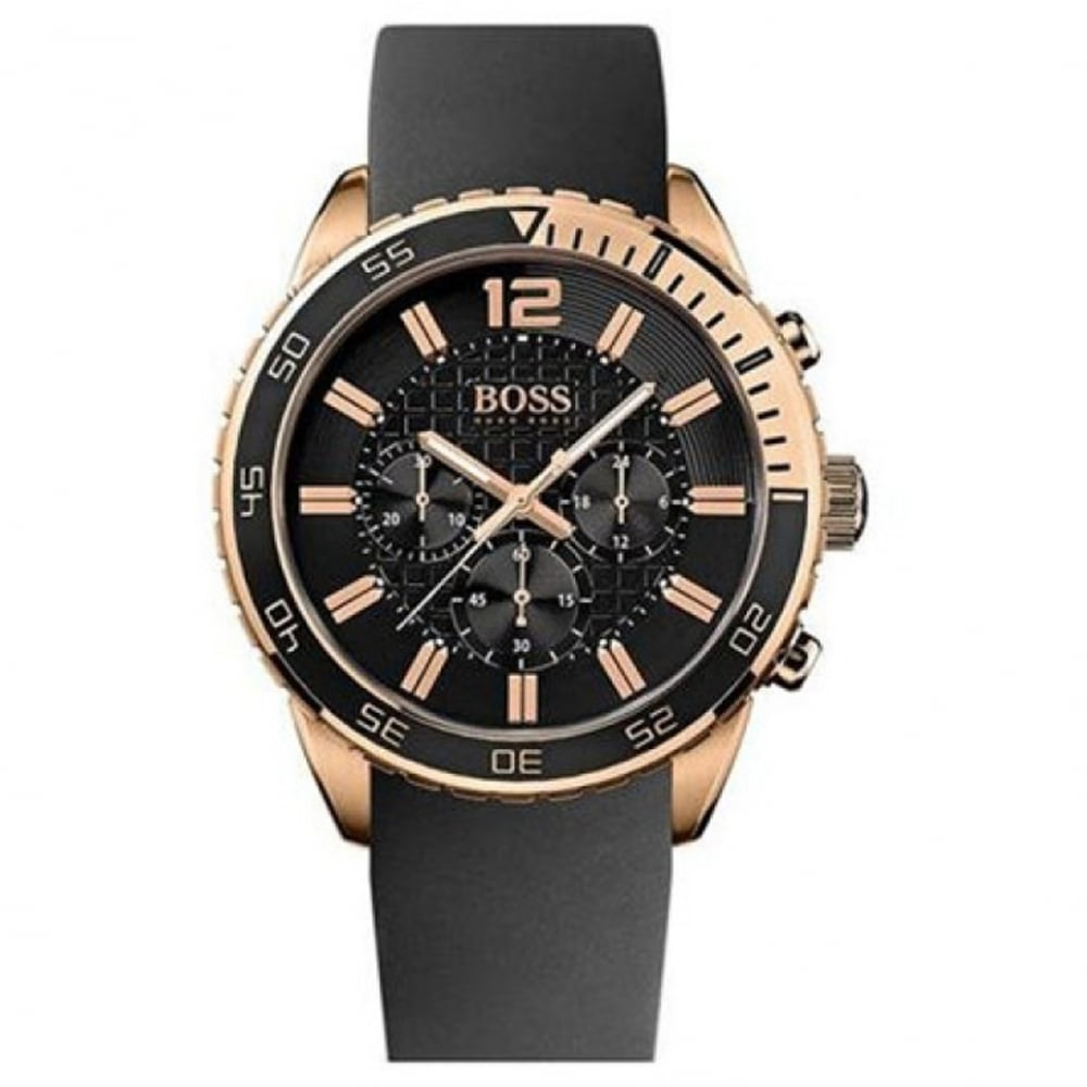 1512931 Black And Rose Gold Chronograph Men s Watch b9f146fe1a7b