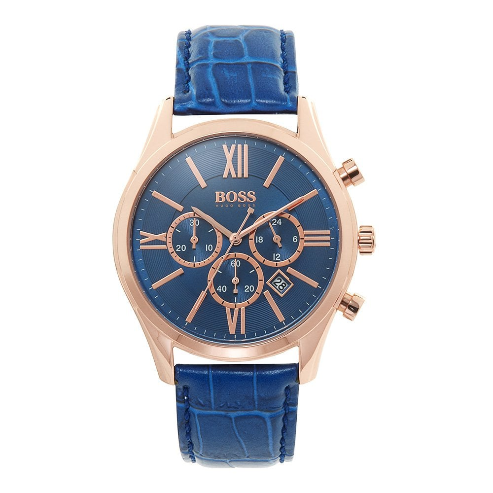 a107cd0d68e Buy The Hugo Boss 1513320 Blue Chronograph Men's Watch At Tic Watches