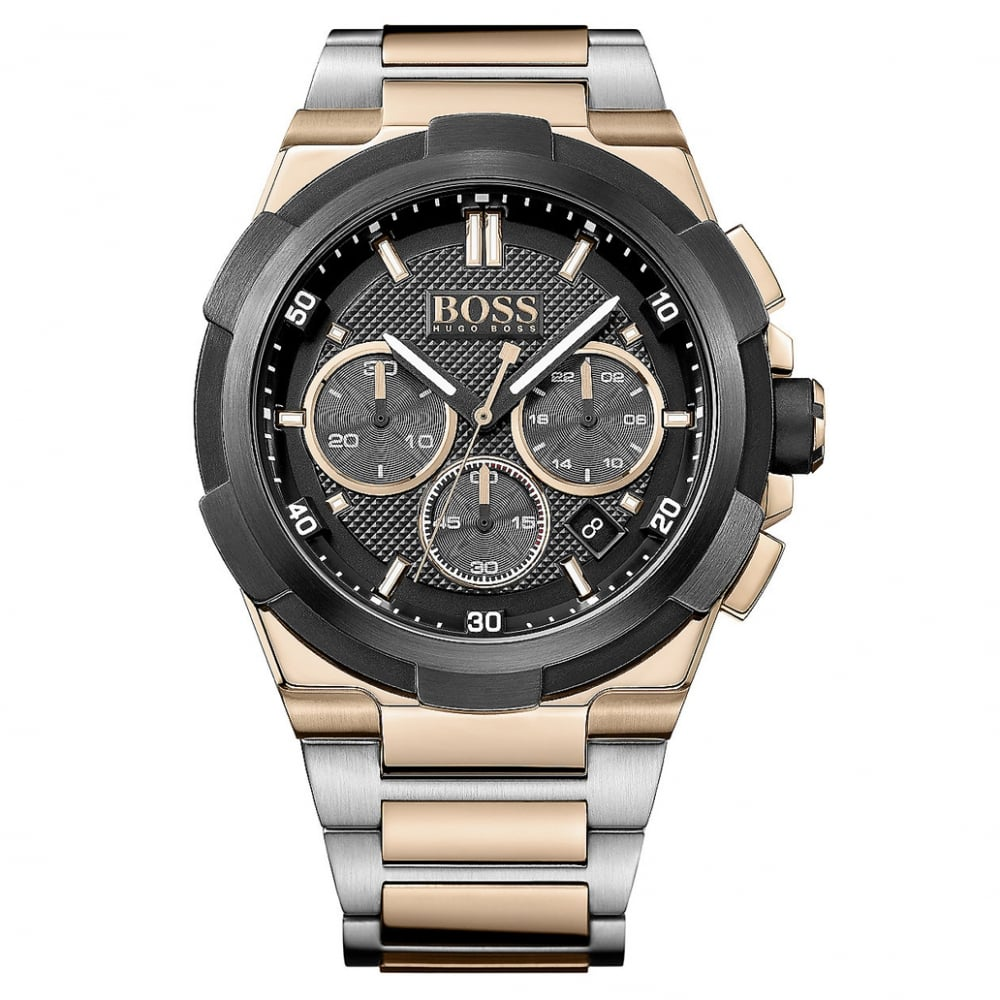 1513358 Two Tone Rose Gold And Silver Chronograph Supernova Men S Watch