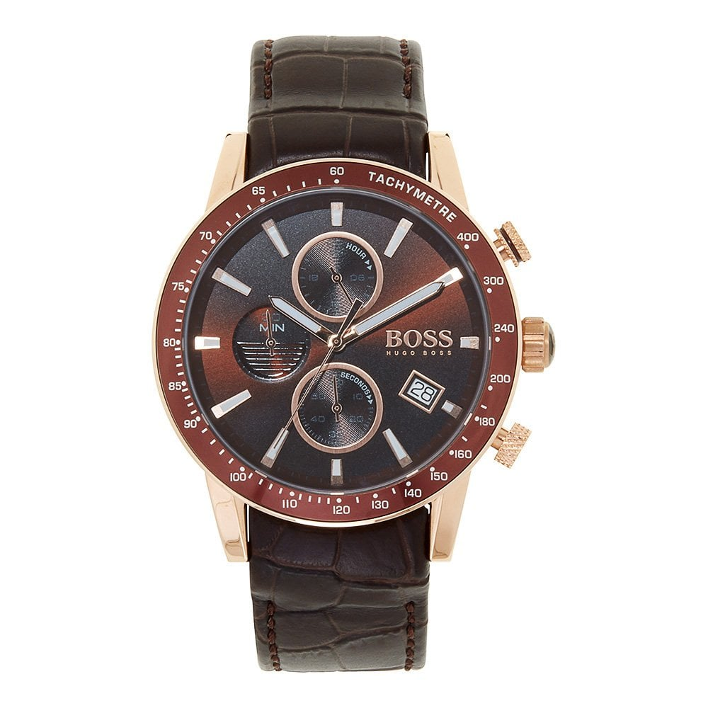 1513392 Rafale Brown Leather Chronograph Men S Watch