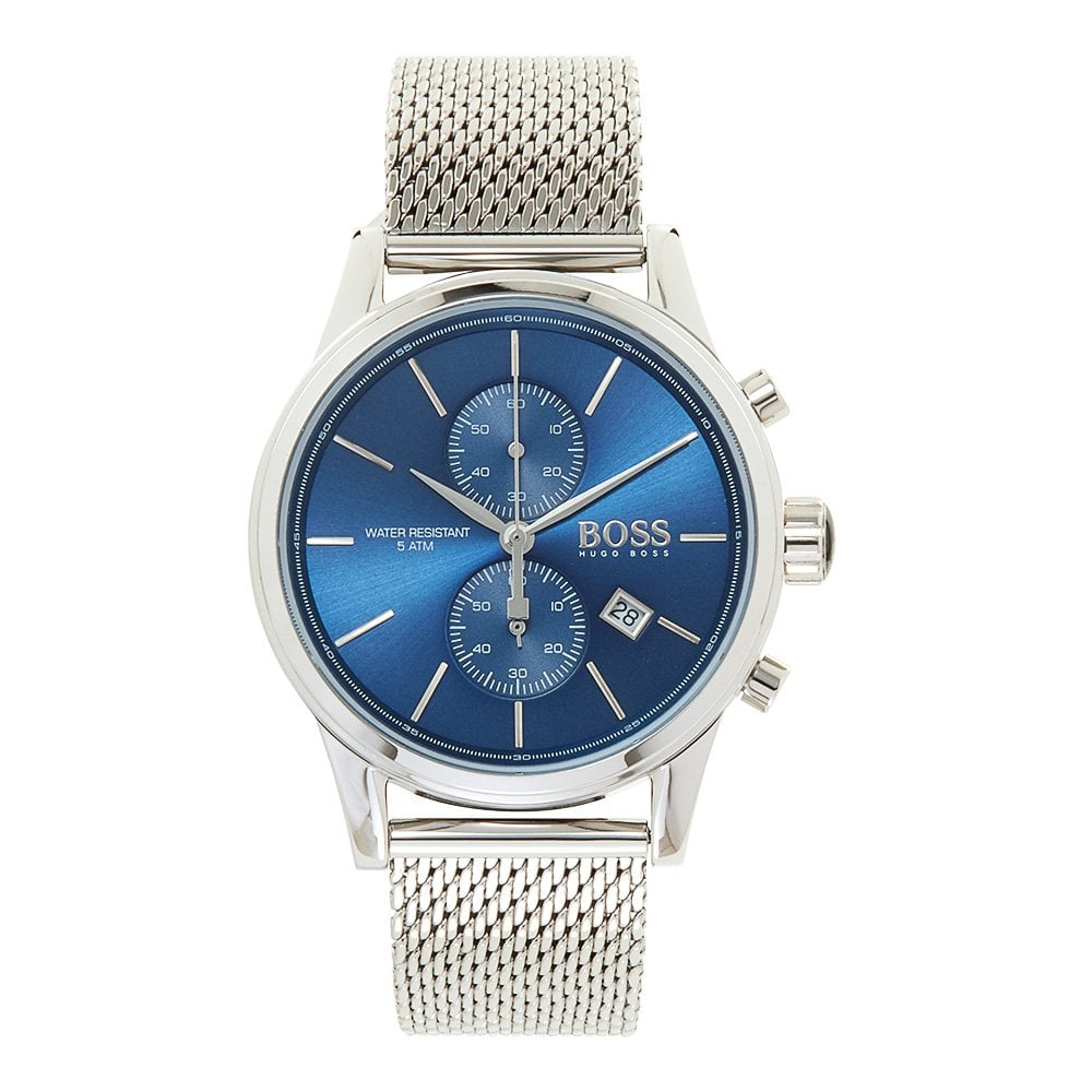 965bc4c2d 1513441 Blue And Silver Mesh Chronograph Jet Men's Watch