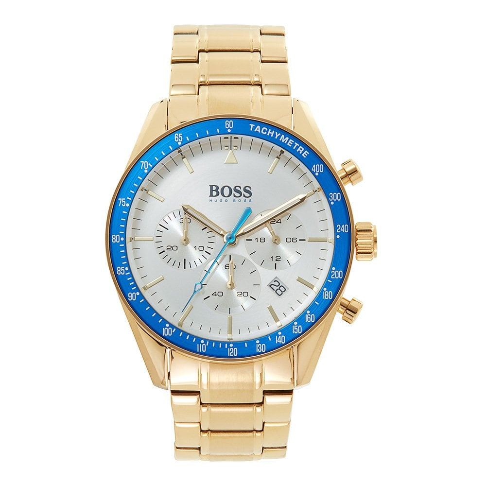da7492e132f 1513631 Trophy Blue & Gold Stainless Steel Chronograph ...