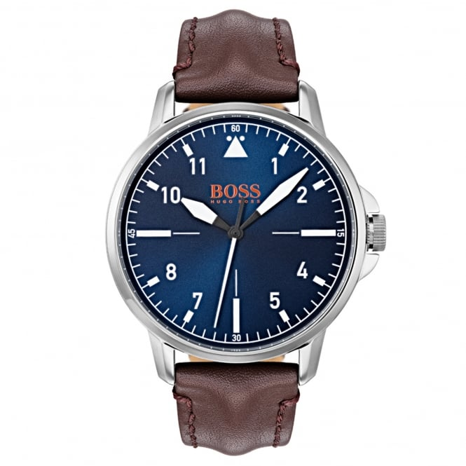 Hugo Boss 1550060 Chicago Blue & Brown Leather Men's Watch