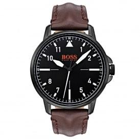 d643f90d883 1550062 Chicago Black   Brown Leather Men's Watch