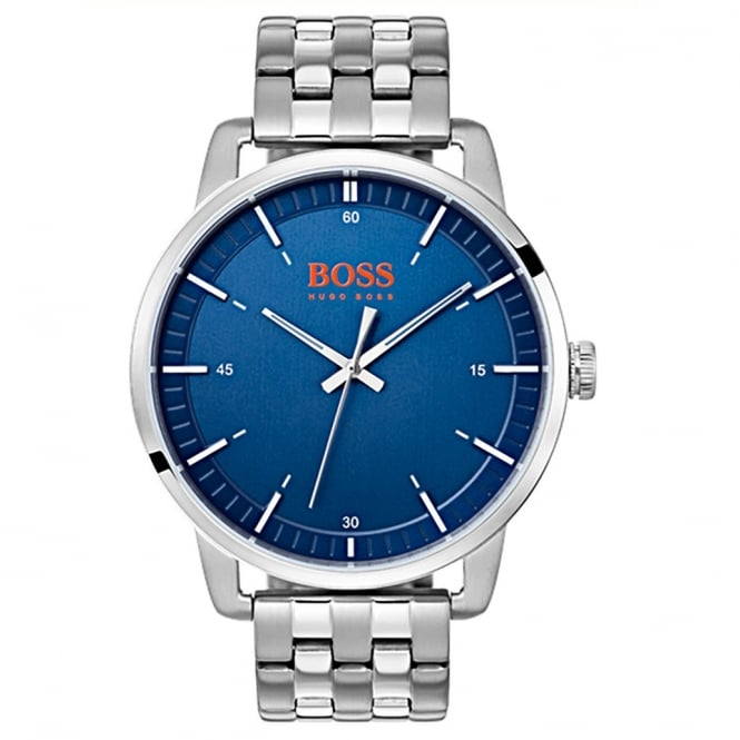 Hugo Boss 1550076 Stainless Steel & Blue Face Men's Watch