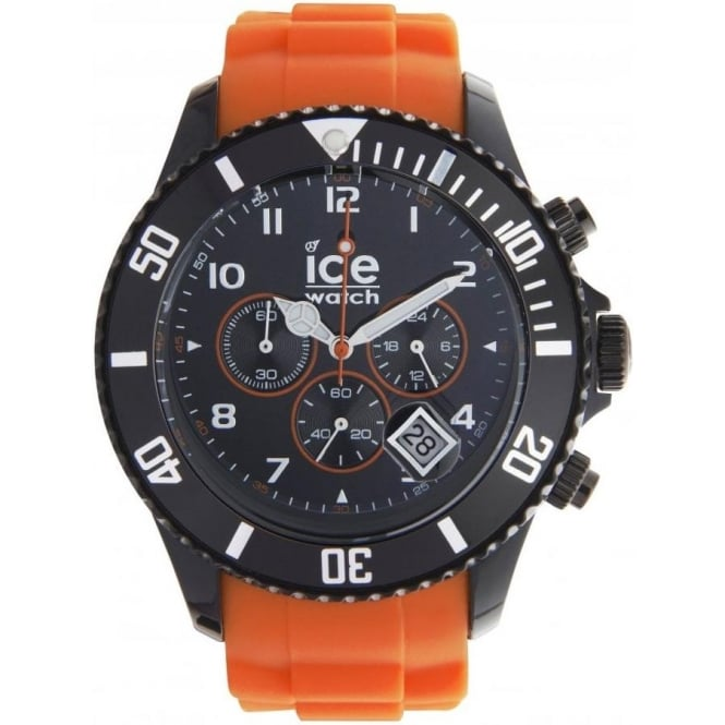 Ice-Watch Black and Orange Chronograph Collection Unisex Watch CH.BO.B.S.10