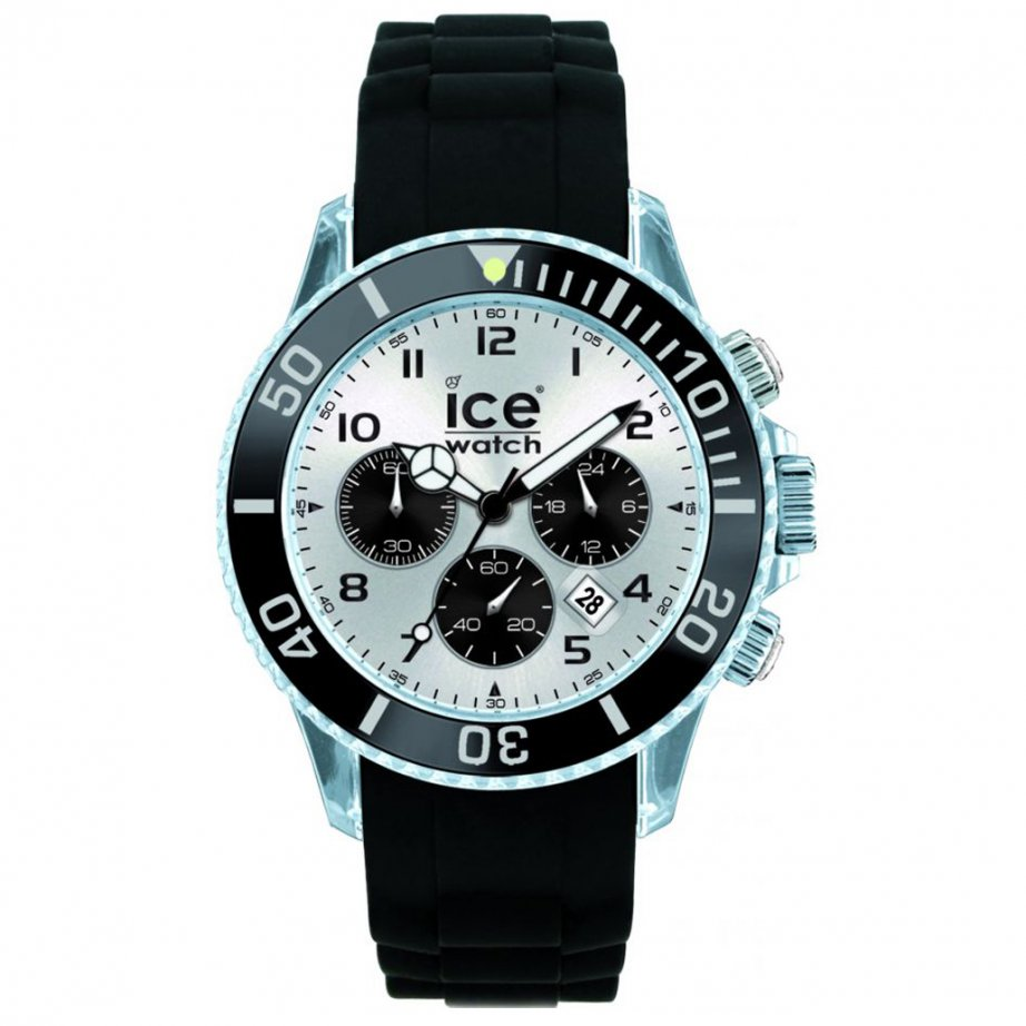 ice watch black chronograph collection big size. Black Bedroom Furniture Sets. Home Design Ideas