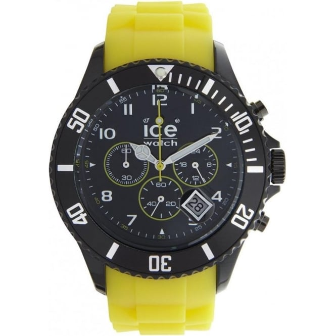 Ice-Watch Black and Yellow Chronograph Collection Unisex Watch CH.BY.B.S.10