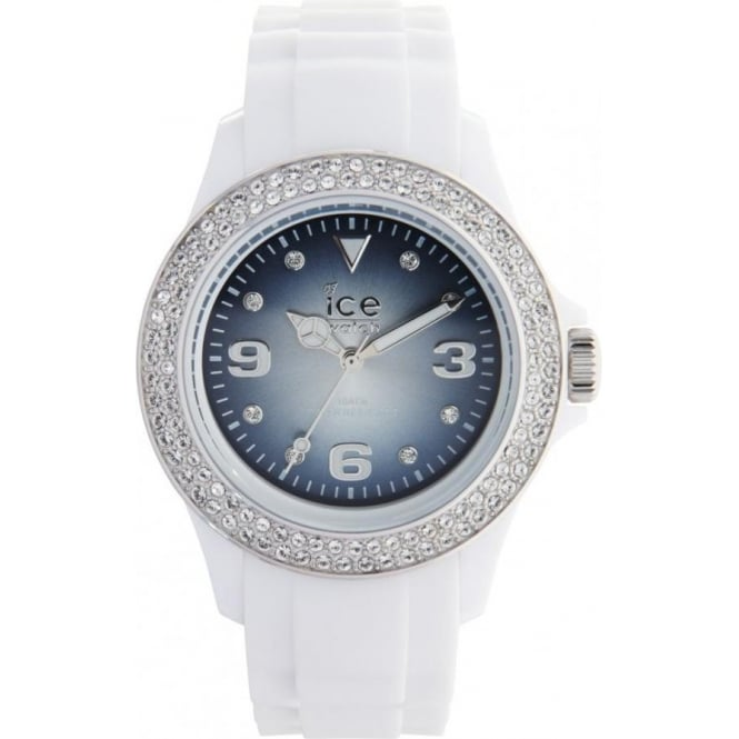 Ice-Watch Ice Blue Stone White Shine Unisex Watch IB.ST.WSH.U.S.11