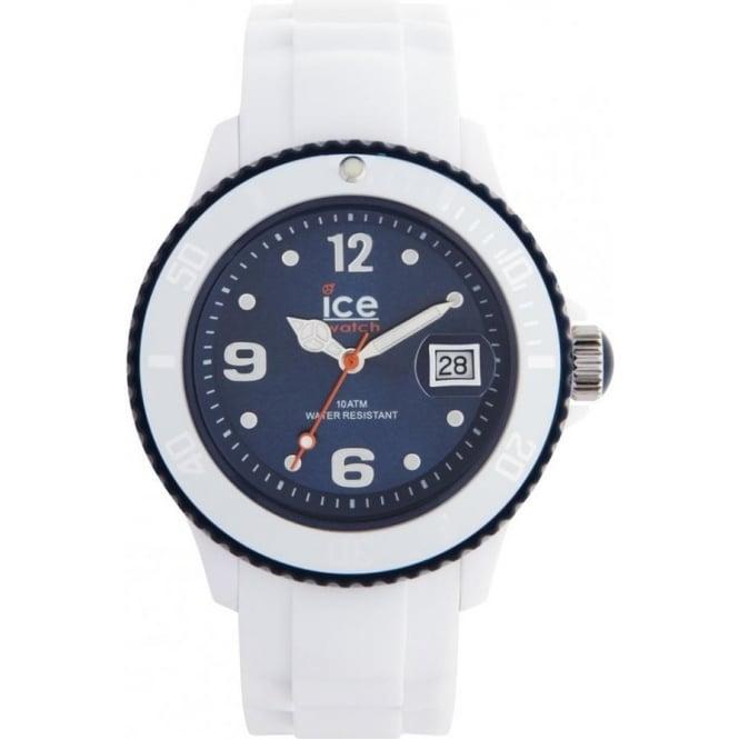 Ice-Watch White-Dark Blue Ice White Unisex Watch SI.WB.U.S.11
