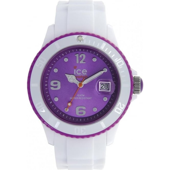 Ice-Watch White-purple Ice White Unisex Watch SI.WV.U.S.11