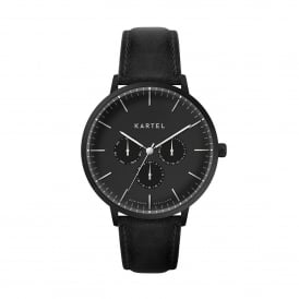 KT-CUIL-BBB-R Cuillin Black Leather Multifunction Men's Watch