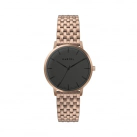 KT-ISLA-RGBRGM Isla Black & Rose Gold Stainless Steel Ladies Watch