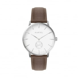 KT-KEND-SWUB-R Kendrick Silver & Brown Leather Men's Watch