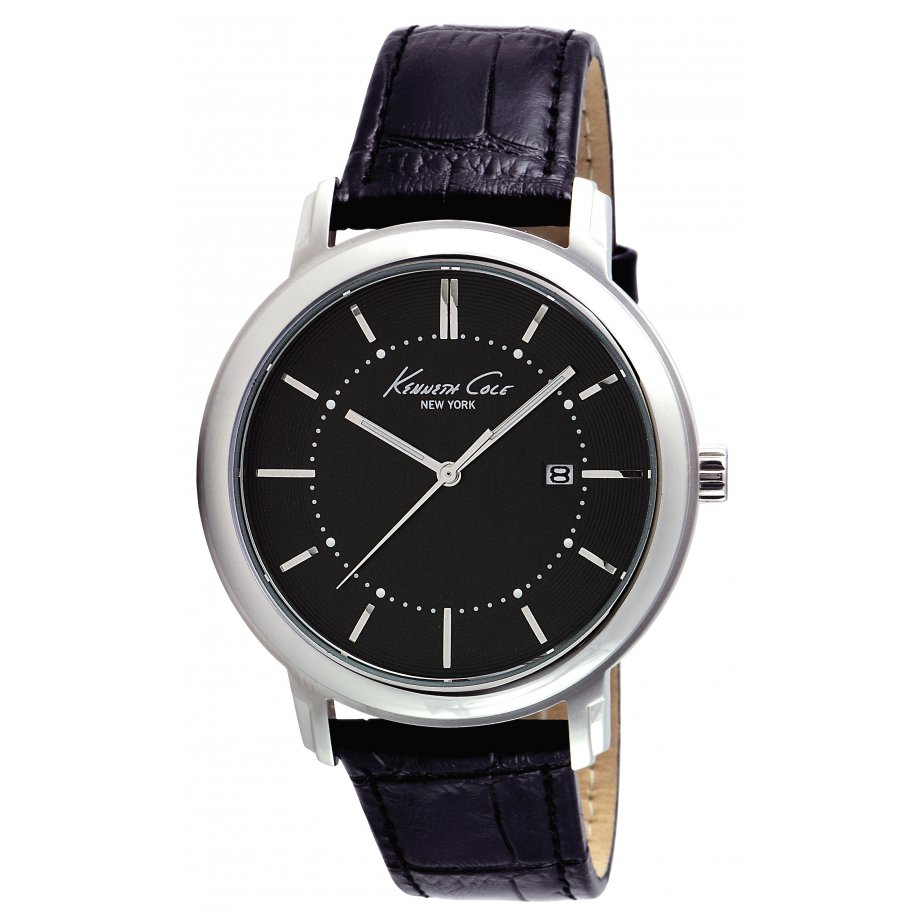 kenneth cole watches kc1652 mens black leather from